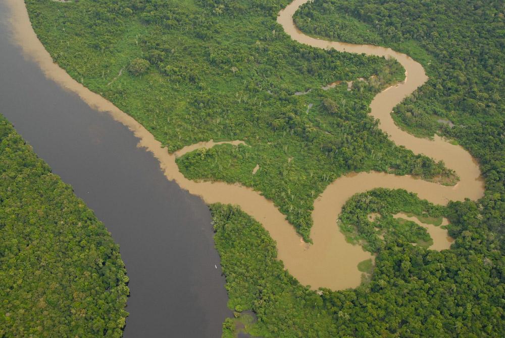 Encontro dos rios Cabixi e Guaporé MT/RO
