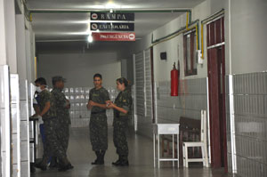 Militares no Hospital de Guarnição de Tabatinga Crédito: Maria Emília Coelho
