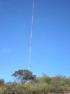 Torre em Campo Limpo. A instalação de cada torre de medição gera um contrato de arrendamento da terra de R$ 1,8 mil por ano. Foto: Celso Calheiros.