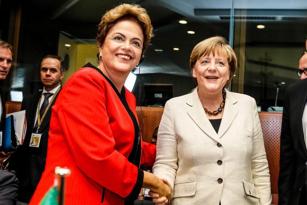 A presidente Dilma Rousseff e a chanceler Angela Merkel. Foto: Roberto Stuckert Filho/PR