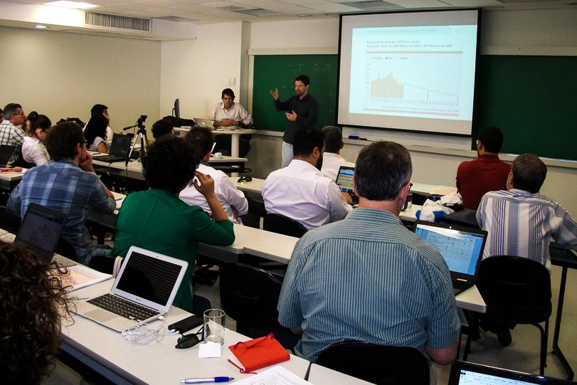 Encontro onde ocorreu a divulgação do estudo da evolução das emissões brasileiras entre 1970 e 2013. Foto: OC/Divulgação