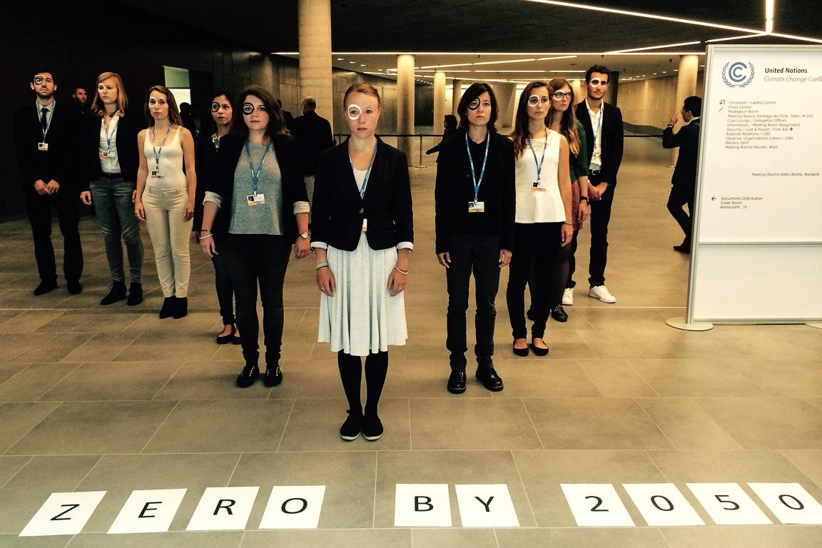 Protesto de organização de jovens durante a reunião de Bonn Foto: Claudio Angelo/OC