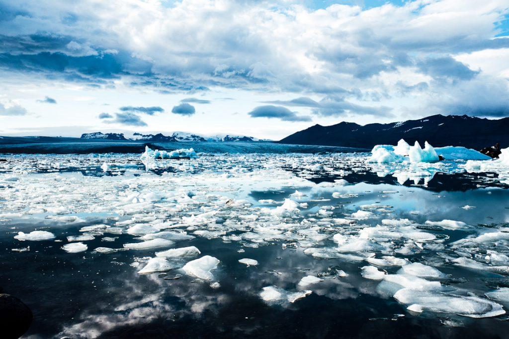 Derretimento das geleiras na Islândia: Foto: Creative Commons
