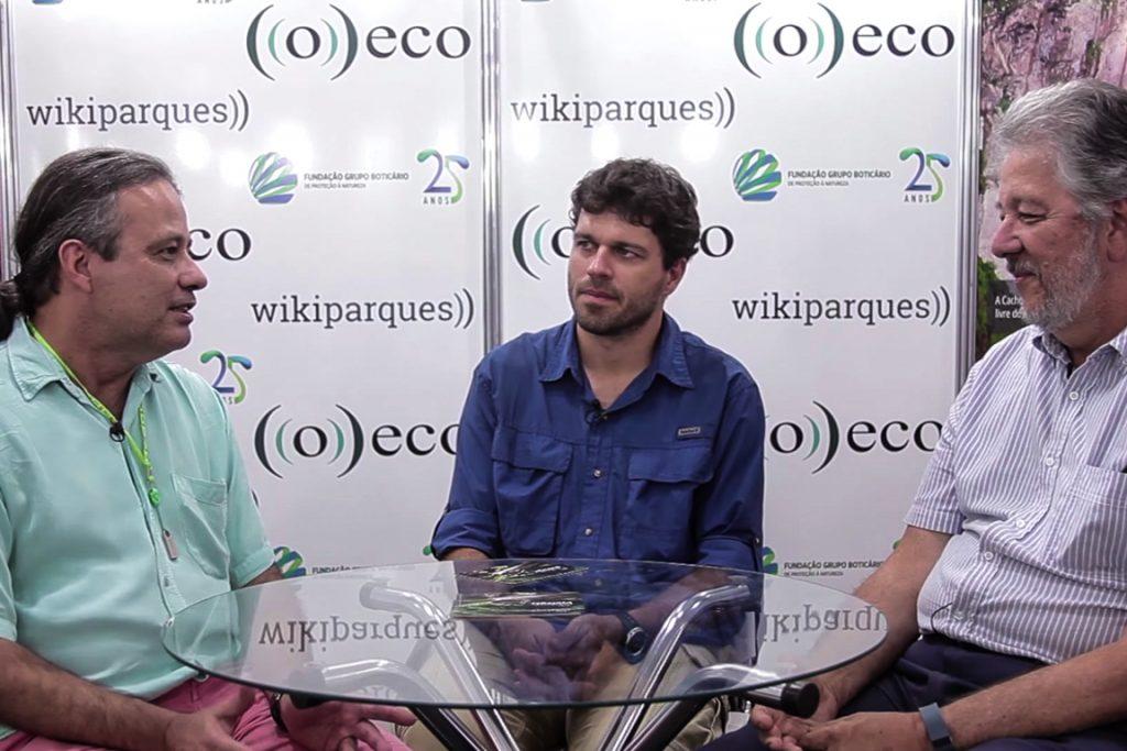 Da esq. para direita: Fernando Fernandez, Ernesto Viveiros de Castro, Claudio Valladares Padua.