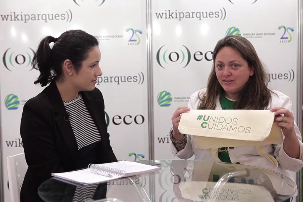 na entrevista, Ana Luiza da Riva apresentou o projeto #Unidos Cuidamos.