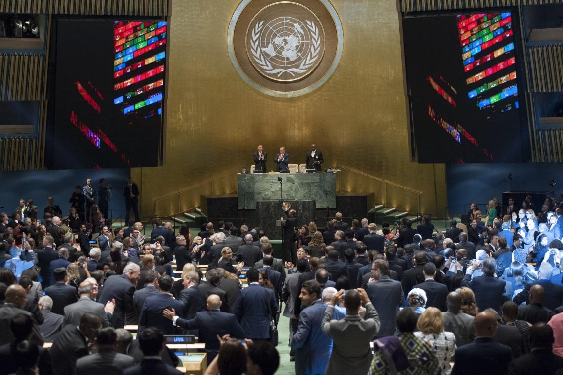 Líderes mundiais adotam a nova agenda de desenvolvimento sustentável