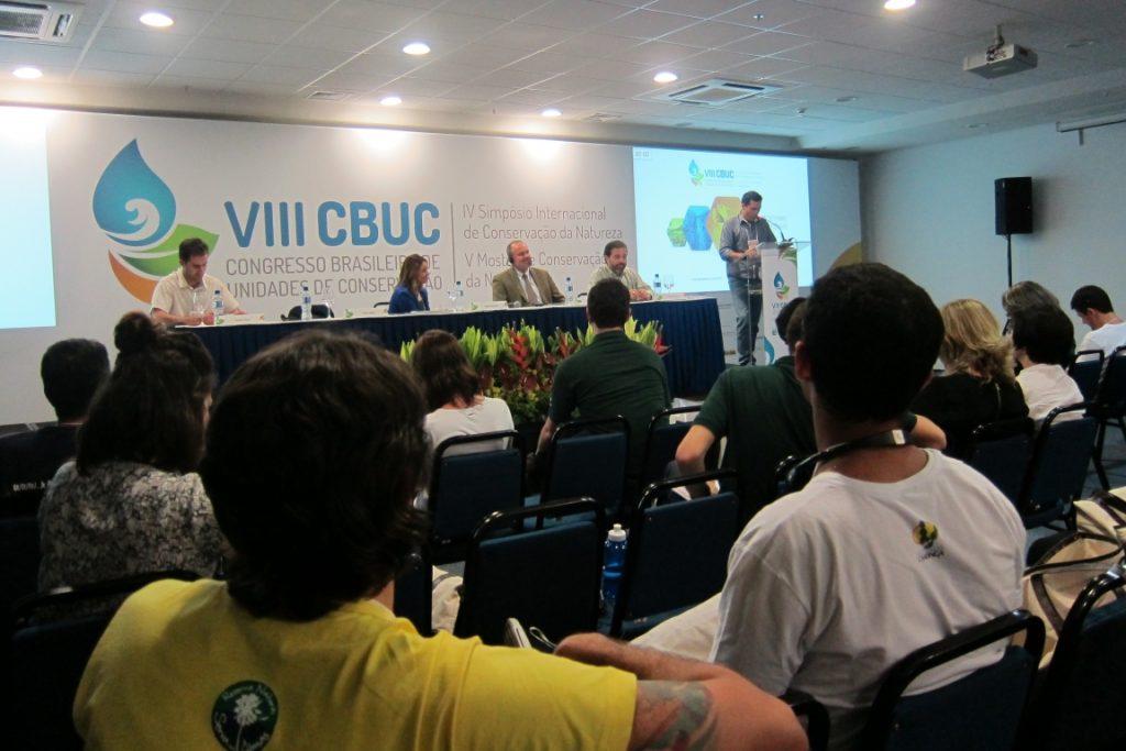 Simpósio discutiu os cenários de conservação da biodiversidade em terras privadas. Foto: Daniele Bragança.