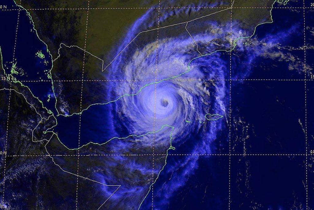 Imagem do ciclone Chapala, que atingiu o Iêmen na semana passada. Foto: Reprodução