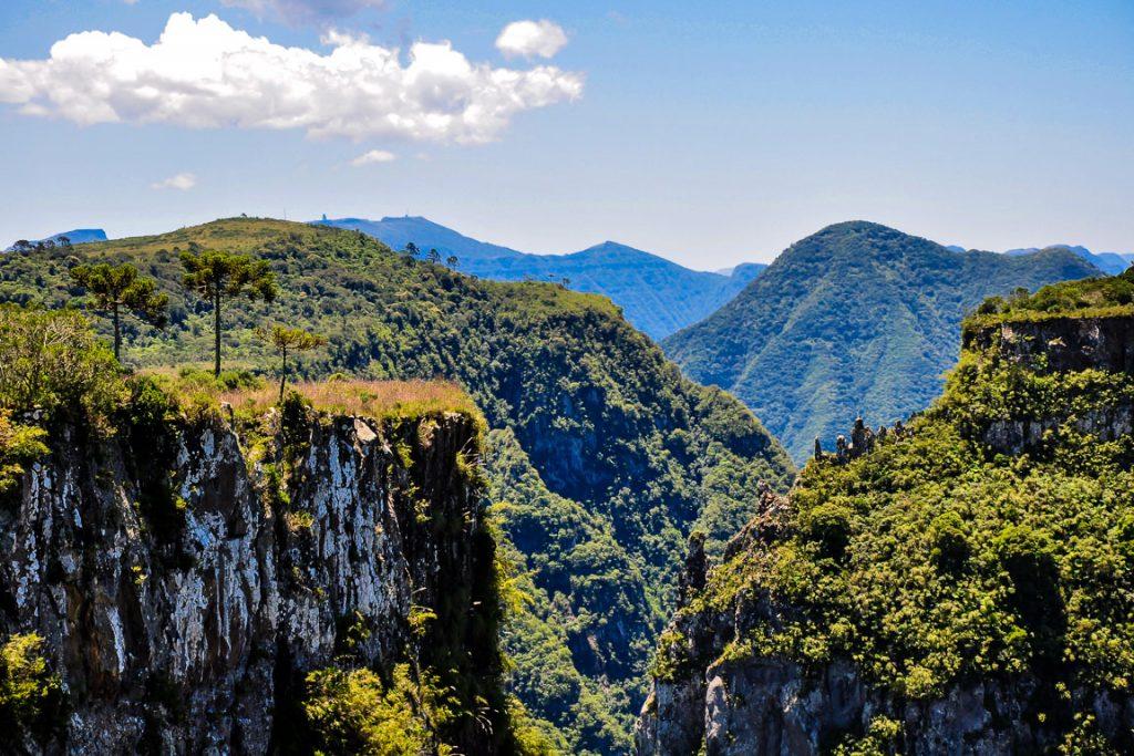 Cânion Laranjeiras. Parque Nacional de São Joaquim. Foto: Dario Lins