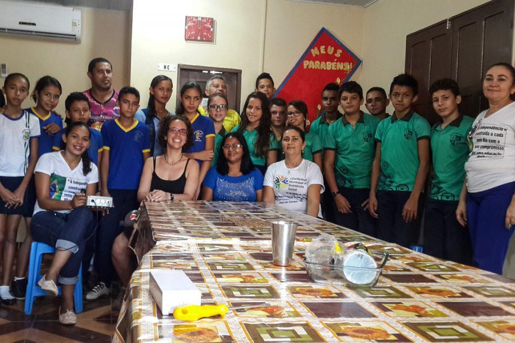 Equipe do InfoAmazonia na Escola Raimunda Queiroz de Souza, Mojuí dos Campos. Foto: InfoAmazonia