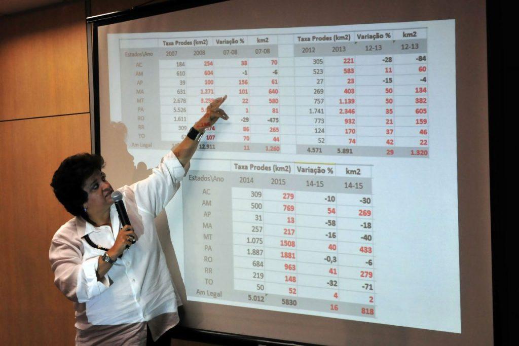 Ministra Izabella Teixeira apresenta os novos dados do PRODES 2014/2015. Fotos: Paulo de Araújo/MMA.