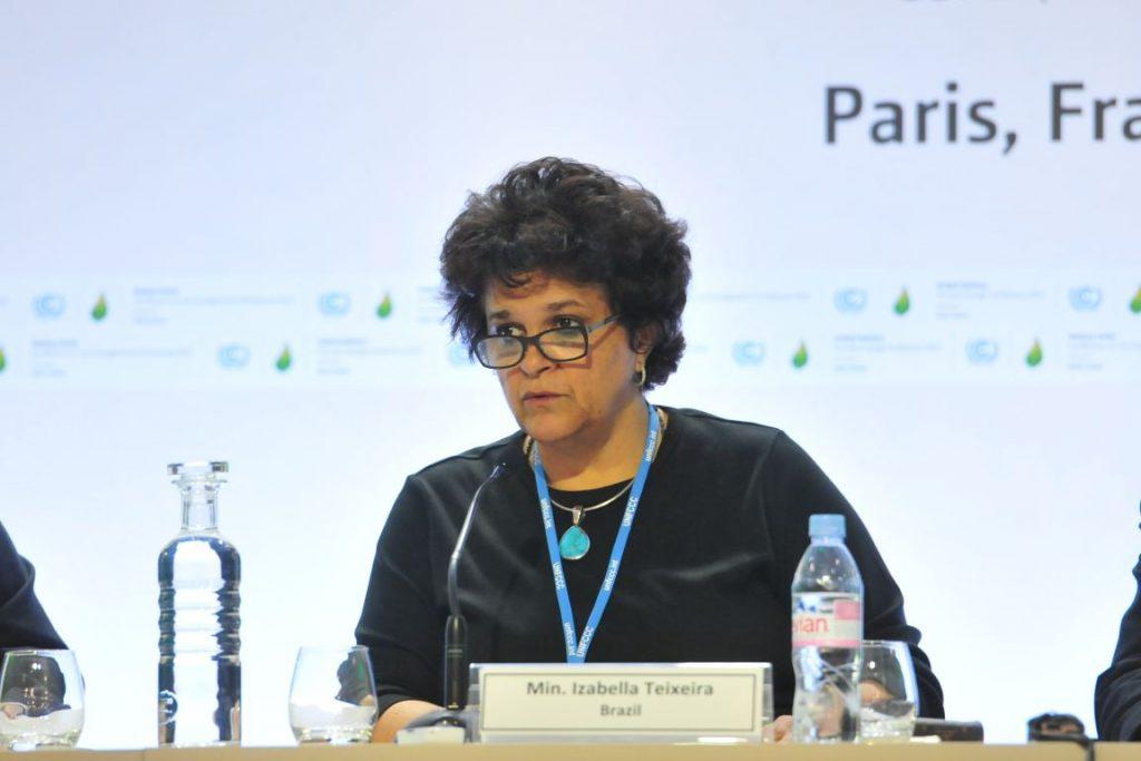 Ministra Izabella Teixeira lidera as negociações para destravar o acordo de Paris. Foto: Lucas Tolentino/MMA.