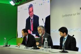 Um dos negociadores brasileiros na COP 21, O embaixador José Antonio Marcondes Carvalho concedeu entrevista coletiva na tarde desta quinta-feira. Foto: Paulo de Araújo/MMA.