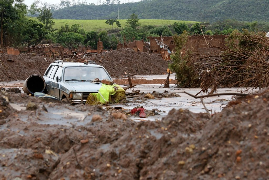 Como ficou o distrito de Bento Rodrigues, em Mariana, após o rompimento da barragem, no dia 05 de novembro. Foto: Foto: Rogério Alves/TV Senado.