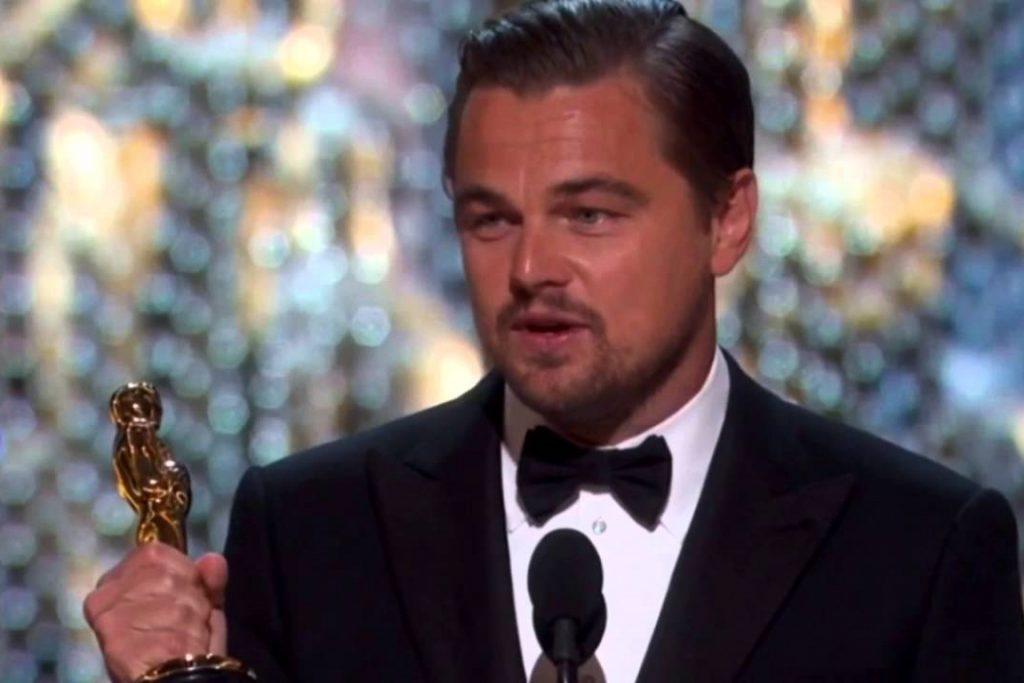 Leonardo DiCaprio no Oscar 2016. Foto: Youtube