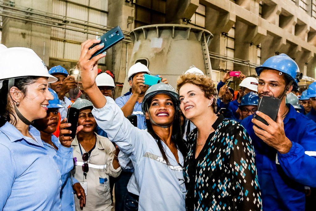 Presidenta Dilma Rousseff durante cerimônia de início da operação comercial da Usina Hidrelétrica de Belo Monte. Foto: Roberto Stuckert Filho/PR