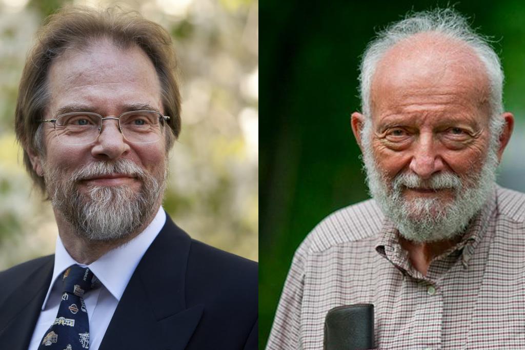 Ilkka Hanski(esq.) e Richard Levins (dir.). Créditos: Markus Marcetic/Vishnu Hoff