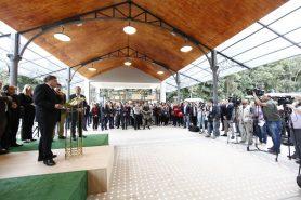 Ministro discursa em inauguração do centro de visitantes no Parque Nacional da Tijuca, no Rio de Janeiro. Foto: Gilberto Soares/MMA.