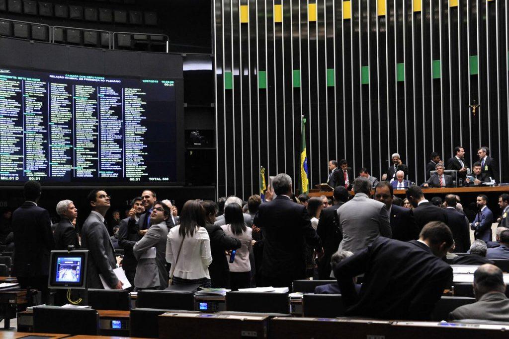 Sessão da Câmara na qual o Acordo de Paris do Aprovado. Foto: Luis Macedo / Câmara dos Deputados.