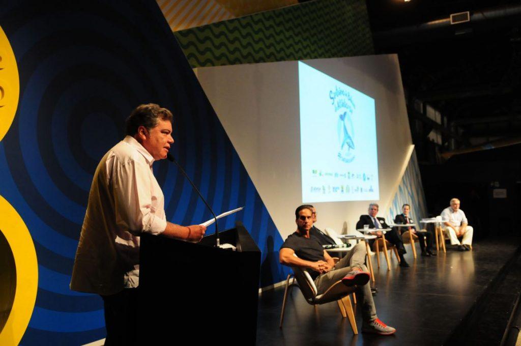 Lançamento da campanha em prol das baleias. Foto: Paulo de Araújo/MMA.