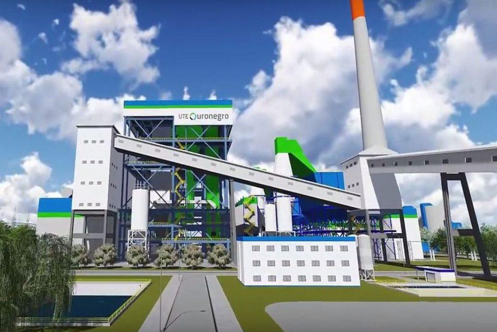 Ilustração mostra como seria a usina depois de construída. Imagem: Divulgação.