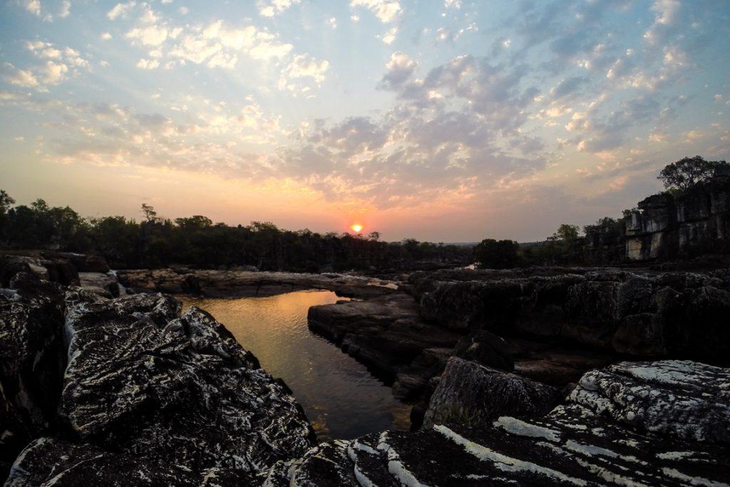 Entardercer visto das Sete Quedas. Parque Nacional da Chapada dos Veadeiros. Foto: Jayme Queiroz