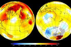 Anomalia de temperatura da Terra em setembro.  (Imagem: NASA