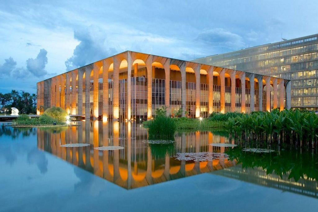 O Palácio Itamaraty, sede do Ministério das Relações Exteriores. Foto: Expedia.