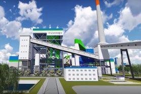 Imagem mostra como seria a futura usina a carvão de Ouro Negro, no RS: sem crédito do BNDES. Imagem: Divulgação