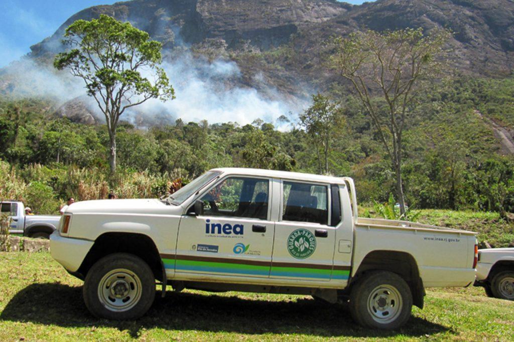 Os veículos do Serviço de Guarda-Parques do INEA foram adquiridos com recursos do FMA. Foto: André Ilha