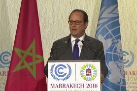 François Hollande discursa na COP22. Foto: Reprodução UNTV
