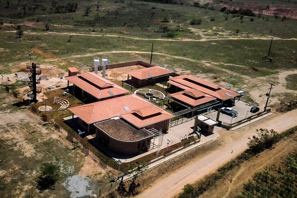 Sede, alojamentos e centro de visitantes da Estação Ecológica Estadual de Guaxindiba, construídos com recursos do FMA. Foto: André Ilha