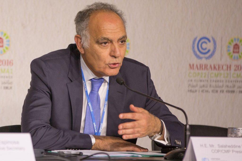 Salaheddine Mezouar, presidente da COP 22. Imagem: UNclimatechange.