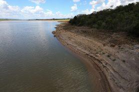 Barragem do Descoberto, que abastece dois terços da população do DF. Foto: Fábio Rodrigues Pozzebom/Agência Brasil.