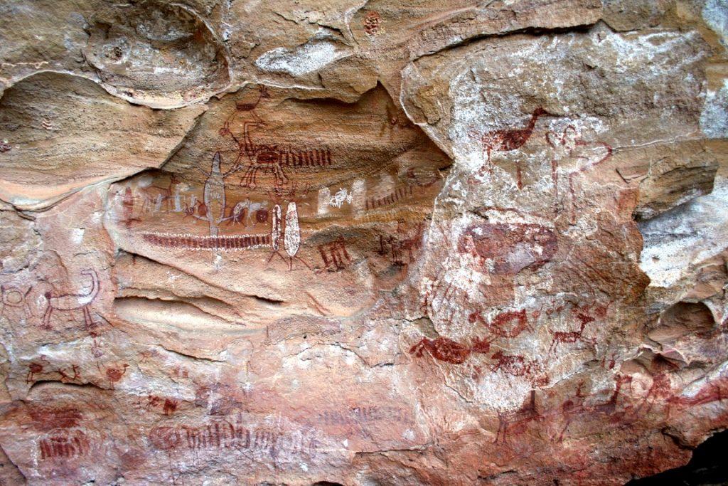 Pinturas rupestres no Parque Nacional da Serra da Capivara. Foto: Fabio Olmos/Wikiparques.