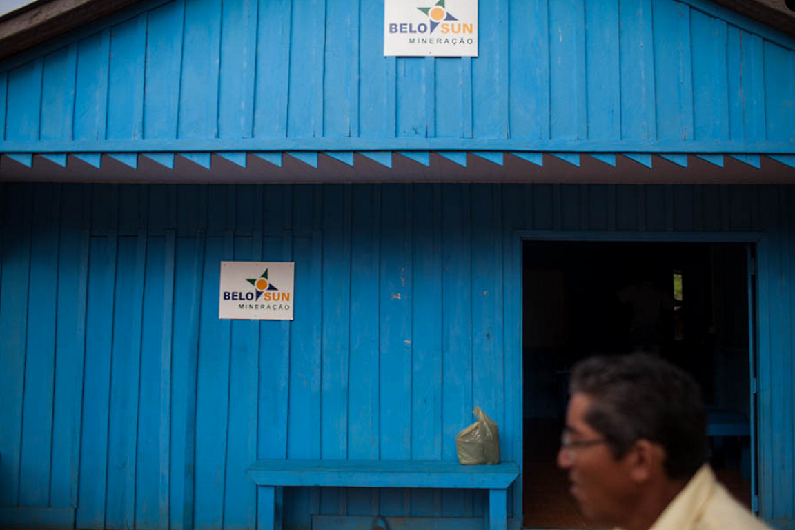 Escritório da Belo Sun, na Vila da ressaca. Foto: Victor Moriyama/arquivo.