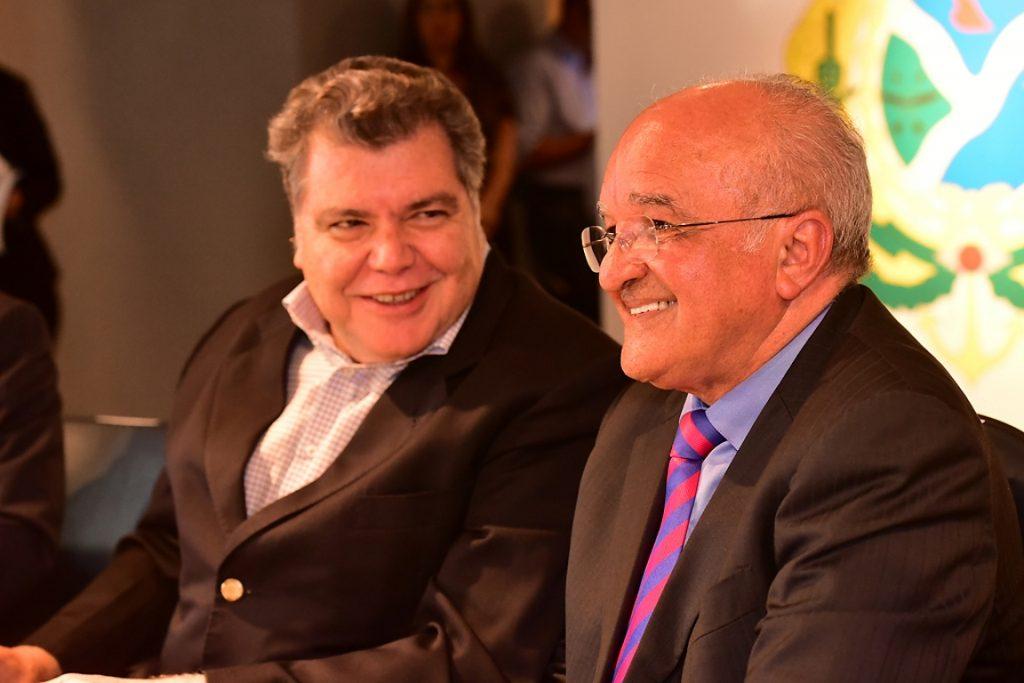 Sarney Filho e o governador do Amazonas, José Melo. Foto: Bruno Zanardo/Secom-AM.