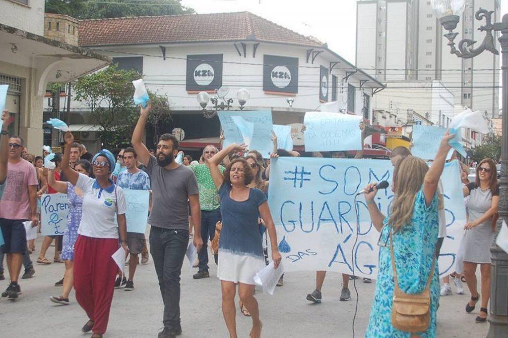 Fotos da manifestação realizada em Caxambu no início de março. Divulgação ONG Nova Cambuquira.