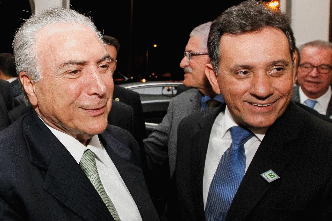 Prestígio: Nílson Leitão (dir.) com Michel Temer após sua posse na FPA. Foto: Beto Barata/PR.
