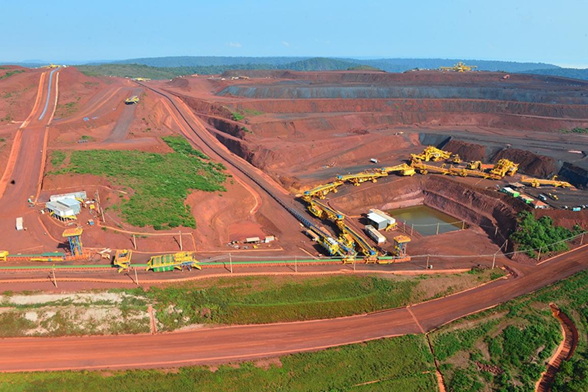 Mina de ferro do S11D, o maior projeto da Vale, dentro da Flona Carajás. Foto: Vale.