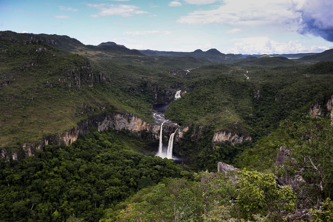 Visual do Mirante da Janela, um dos cartões-postais da Chapada, agora está dentro da área do parque nacional. Foto: Wikipédia.