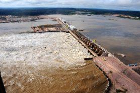 Lago da Usina Hidrelétrica de Energia (UHE) em Jirau. Foto: Divulgação/PAC.