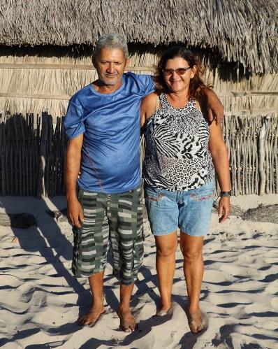 Seu Moacir e Dona Odete, casal morador da Baixa Grande, nos Lençóis. Foto: Duda Menegassi.