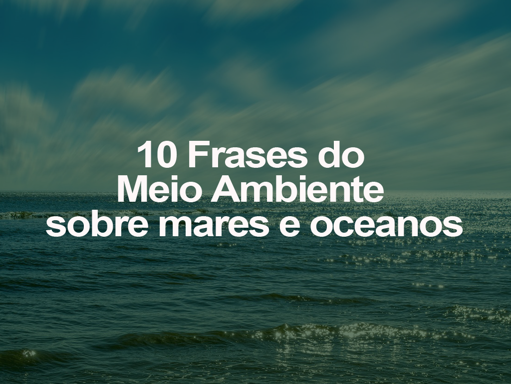 10 Frases Do Meio Ambiente Sobre Mares E Oceanos Oeco