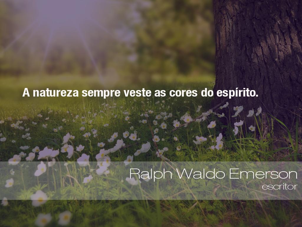 Suficiente Frases do Meio Ambiente – Ralph Waldo Emerson, escritor (03/08  CL34