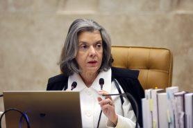 Ministra Cármen Lúcia vota por inconstitucionalidade de MP que reduz área protegida. Foto: Nelson Jr./SCO/STF.