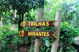 Sinalização do Parque Municipal da Catacumba. Foto: Nanda Melonio.