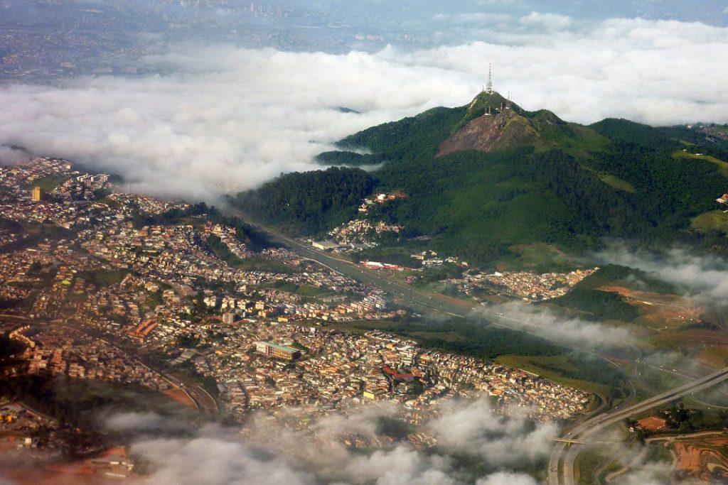 Vista do topo do Parque Estadual de Jaraguá. Foto: wikipédia.
