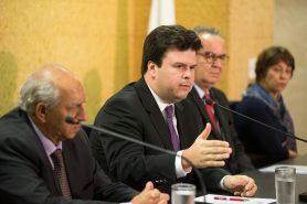 Fernando Coelho Filho, ministro de Minas e Energia (MME), em coletiva sobre a Renca, realizada na semana passada (25). Foto: Saulo Cruz/MME.