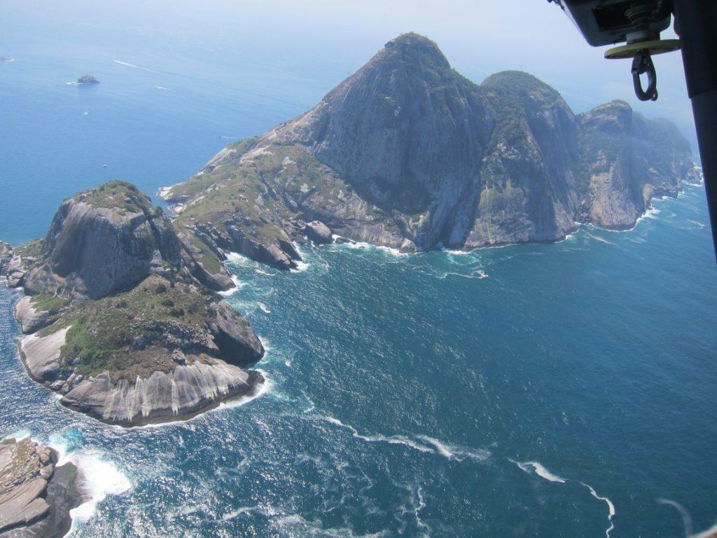 A Ilha principal vista de cima. Foto: Daniele Bragança.